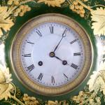 A late 19th century  tôle wall clock