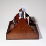 A late 18th century desk holder