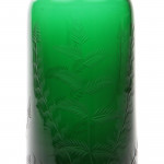 A Victorian green glass decanter