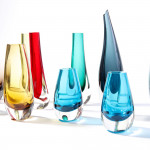 A collection of cased glass