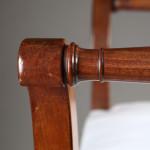 A pair of Restoration mahogany tabourets