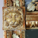 A North European carved and gilt mirror