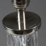 A pair of glass lamps by Orrefors