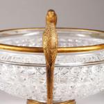 A Victorian cut glass and gilt bronze bowl.