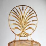 A gilt metal chair