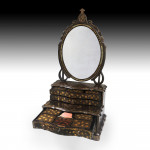 A Chinese export lacquer dressing mirror