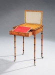 A Regency satinwood occasional table, attributed to George Oakley
