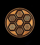A late 19th century marquetry centre table