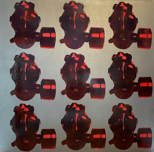 Plain red Gas mask