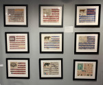American Flag scene made of antique elements