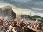 Old Master French/ Italian Horse Battle Scene