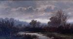 !9th Century English Victorian River Landscape