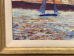 American Impressionist Sailing Yacht off of Nantucket