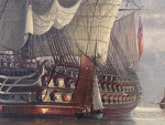 The English marine fleet at clam off of the British coast