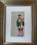 Chinese  watercolors on rice paper
