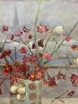 Still life of flowrs, snowberriers and Euonymus bush