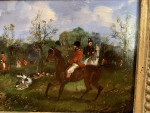 English Fox hunting scene, in an extensive landscape