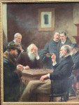19th century American or English portrait study of men playing chess.