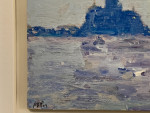 Impressionist scene of Venice, ITaly from the Grand Canal