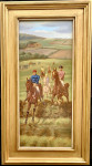 Set of four Victorian point to point and horse Racing scenes