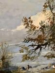 Fox hunting scene, early 19th century, oils on panel