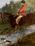 19th century English fox hunting scene.