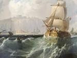 English marine scene, off the coast.