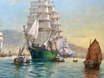 The Clipper Ship Thermoplae off of the coast of Foochow
