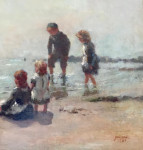 Children by the Shore Line, Scotland