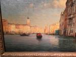 Sunlight along a canal, Venice, Italy