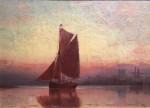 English marine scenes, with fishing vessels.