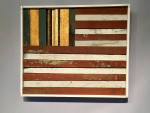 pair of Wooden American flags
