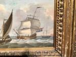 English man of war off of the Dutch Coast
