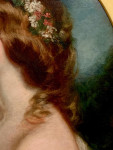 Spring, Portrait of a young lady with spring flowers in her hair