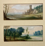 Flemish or Dutch old master landscapes, 17th or early 18th century