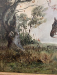 English Fox Huntsman up on his horse