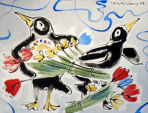 Valentine Penguin 4. Ask to see our collection of Valentine themed Penguins which are not displayed on the website.