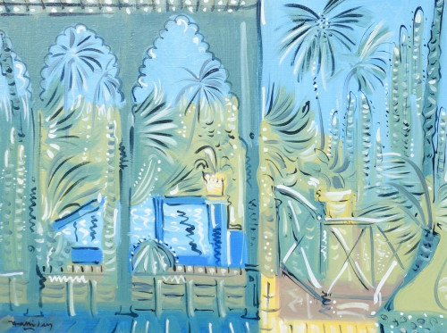 From the Studio, Jardin Majorelle, Marrakech