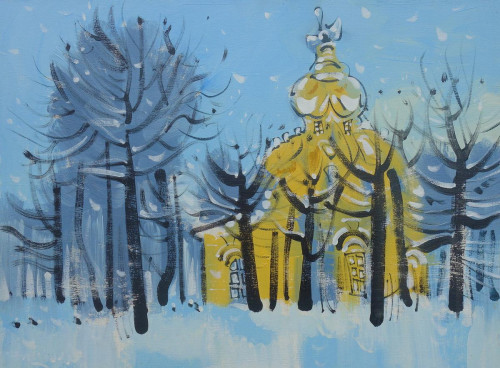Petrodvorets, snow