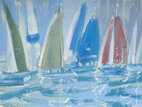 Racing Yachts at Cowes,