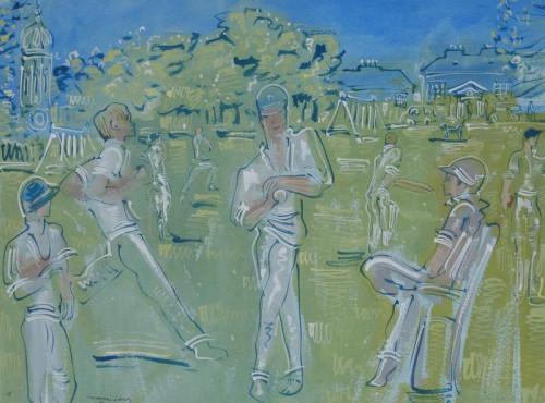 Cricket on Kew Green