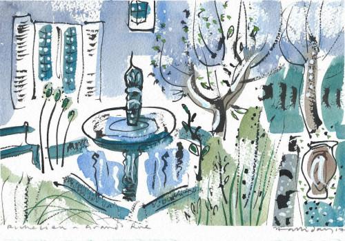 Courtyard garden on Grande Rue, Richelieu