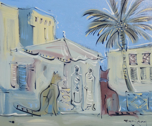 Cats in market at Tangier