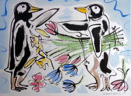 Valentine Penguins in Love