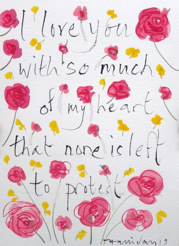 Shakespeare Valentine XII, I love you with so   much...