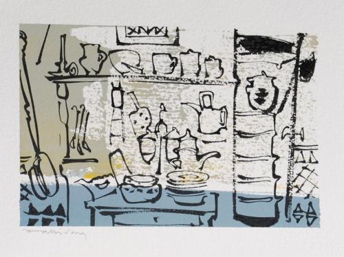 La Cuisine de Françoise, dessin, 19cm x 29cm.