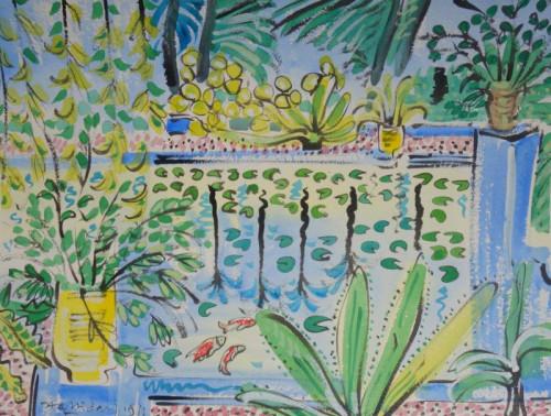 Reflecting Pool, Jardin Majorelle,