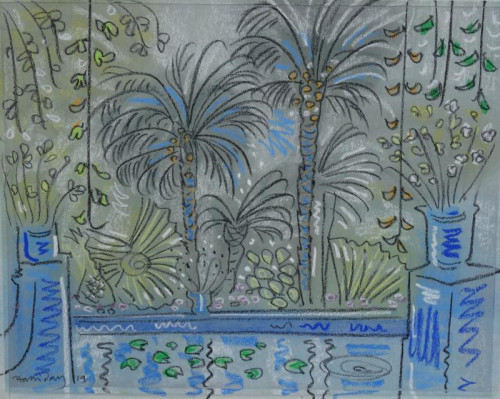 Palms at the Reflecting Pool, Jardin Majorelle