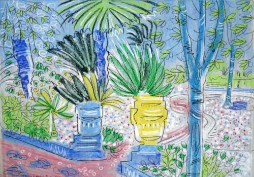 Plants ands pots at Jardin Majorelle