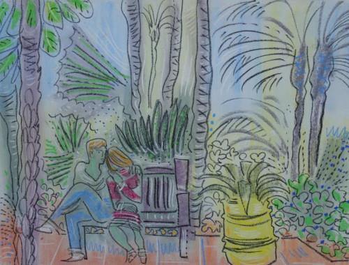 Couple at Jardin Majorelle
